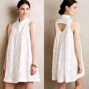 Anthropologie white lace dress